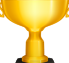 Gold cup awarded for achieving at least 8 badges