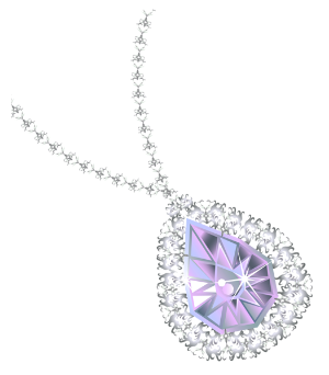 a saphire and diamond necklace