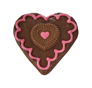 a chocolate heart
