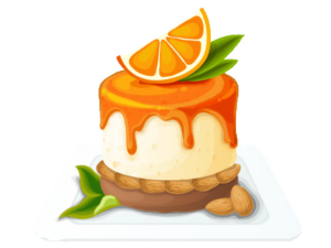 an orange cheesecake
